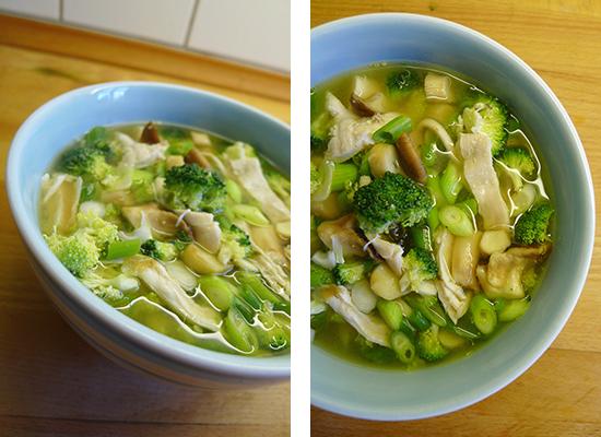 grøntsagssuppe med kylling